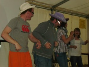 Jon and me line dancing