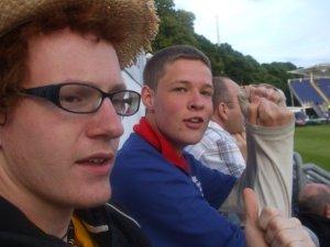 at the cricket