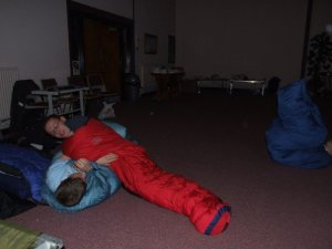 sleeping bag wrestling